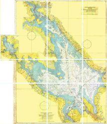 Карты Рыбинского водохранилища  подробная карта глубин